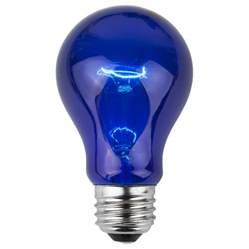 e26 party and sign bulbs a19 transparent blue 25 watt