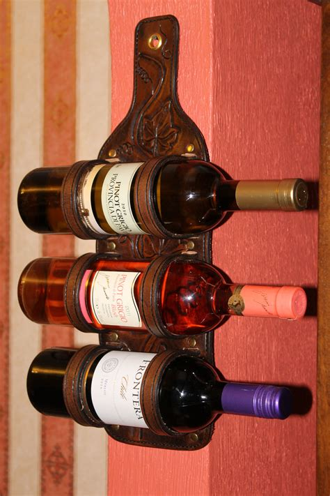 leather wine rack shop hand crafted leather wine rack wine bandolier