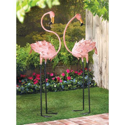 Garden Stakes Decor Flamboyant Flamingo Garden Stakes Wholesale At Koehler Home Decor