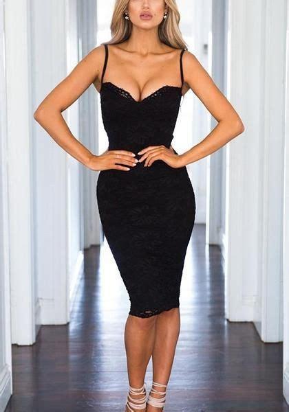 black plain condole belt sleeveless lace midi dress