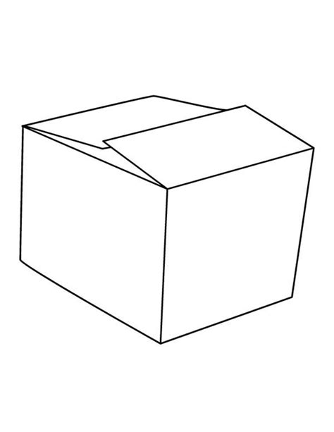 empty box coloring pages coloring pages