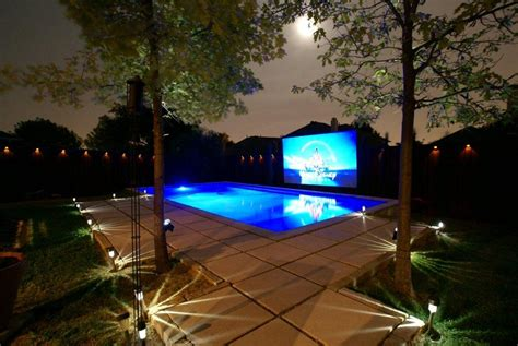 how to set up a backyard theater projector people news
