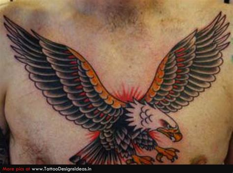 tattoo eagle flying flying eagle tattoos on chest www pixshark com images