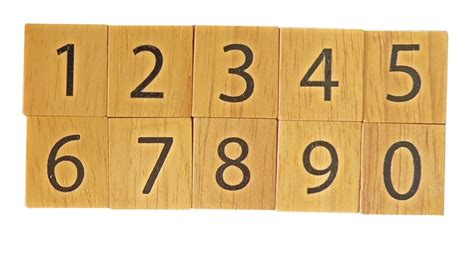 number scrabble scrabble tiles black numbers set of 10 pieces wooden