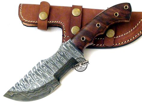 Kitchen Knives With Sheaths Damascus Tracker Knife Custom Handmade Damascus Steel Knife