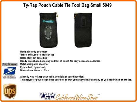 Bonding Pouch Oval ty rap pouch cable tie tool bag small 3 incorporated