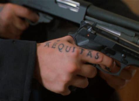 tattoo hand veritas quot aequitas quot quot justice quot in latin hand tattoo guns murphy