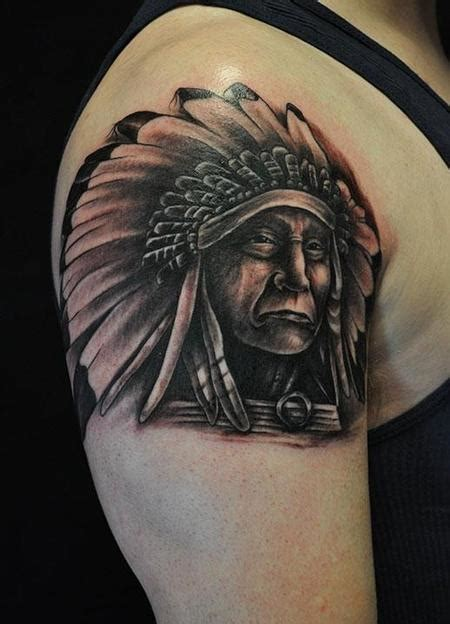 indian chief tattoo indian tattoos designs ideas and meaning tattoos for you
