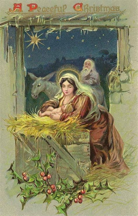 cards with nativity vintage nativity card of the holy family holy family