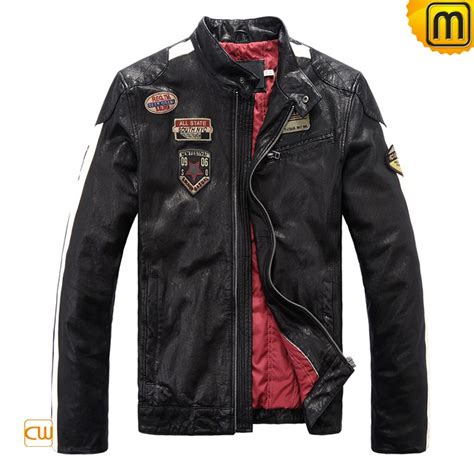 mens black leather motorcycle jacket s black leather motorcycle jacket cw813028