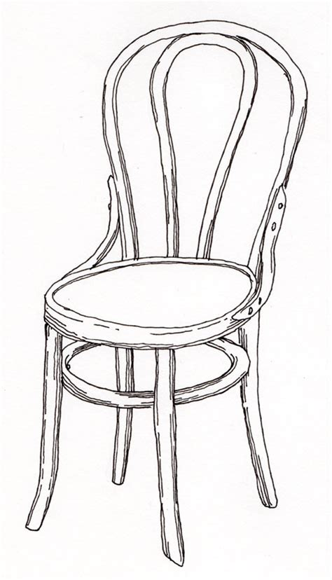 how to draw a armchair pen pencil paper draw contour drawing of a chair