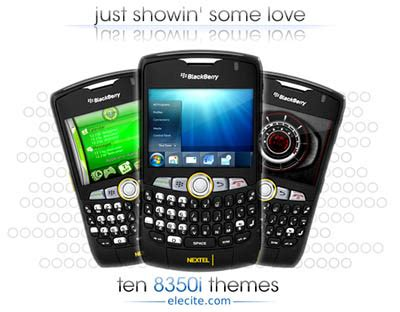 themes mobile black berry elecite shows some blackberry 8350i theme love intomobile