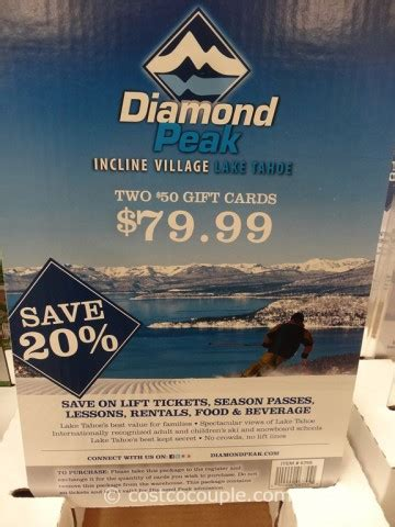 Diamond Gift Card - diamond peak gift card