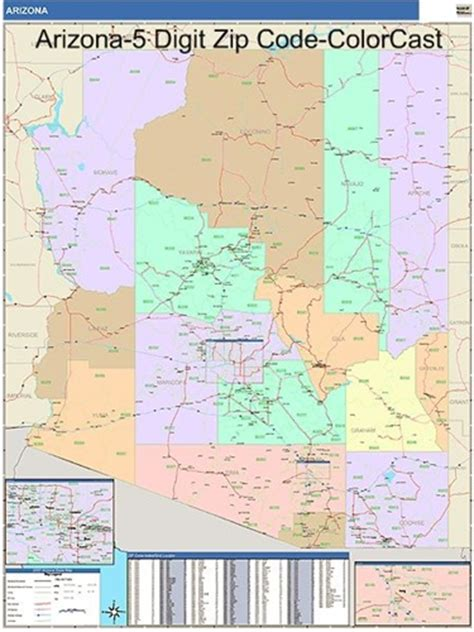 az zip code map arizona zip code map with wooden rails from onlyglobes
