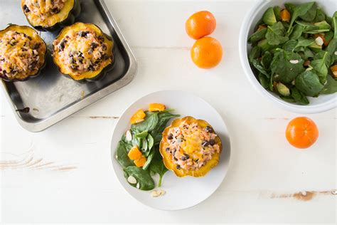 Reader Recipe Southwestern Stuffed Acorn Squash by Acorn Squash Stuffed With Southwestern Rice Cook Smarts