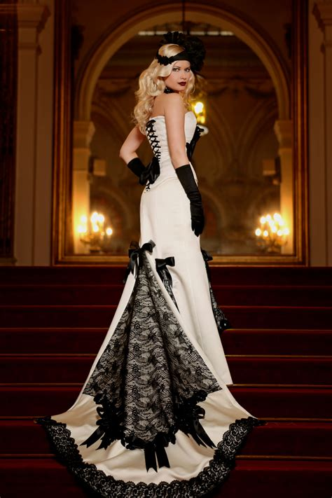 White Black Wedding Dresses by 35 Black White Wedding Dresses With Edgy Elegance