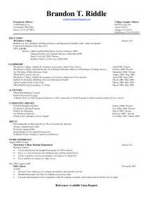 College Resume Objective Exles by College Freshman Resume Template Search College