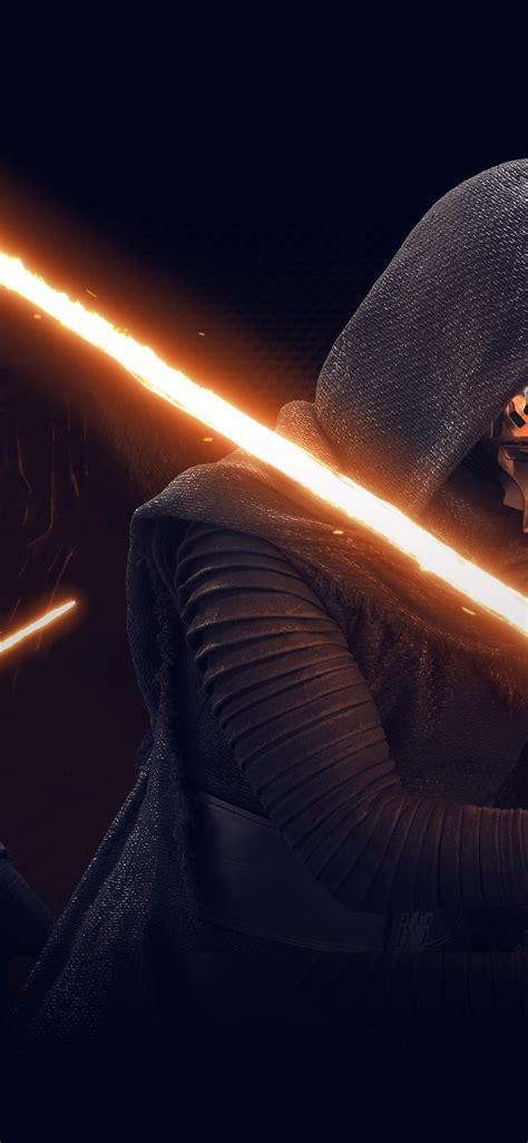 kylo ren wallpaper for mac at11 starwars kylo ren dark orange lightsaber art