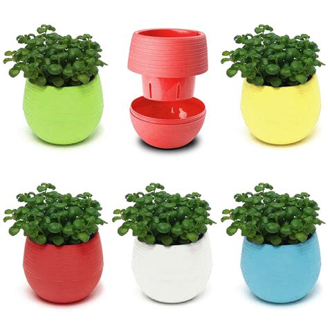 small planter pots small mini colorful plastic flower planter pots home office desktop garden decor ebay