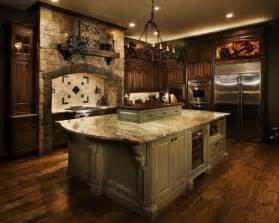 Tuscan Kitchen Ideas World Tuscan Kitchens Make A House A Home World Charm Wooden Shelves