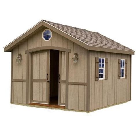 Home Depot Wooden Sheds by Best Barns Cambridge 10 Ft X 16 Ft Wood Storage Shed Kit