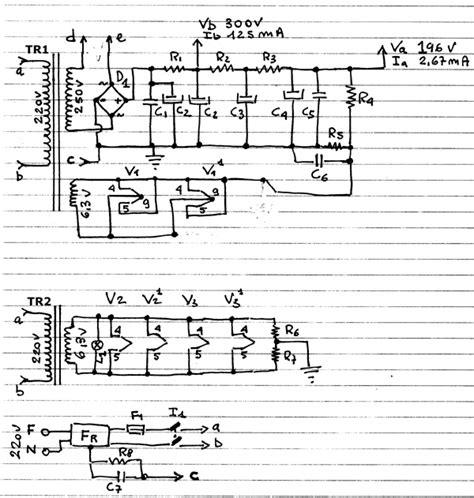 schema alimentatore costruire un lificatore valvolare schemi