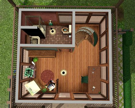 Nice House Plans mod the sims sunflower cabin a cute one bedroom and 1