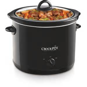 crock pot 4 quart slow cooker black walmart com