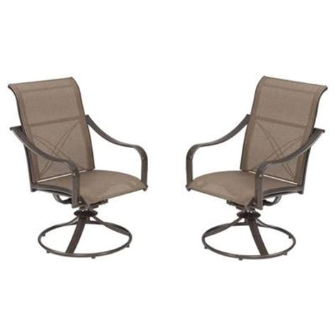 swivel patio dining chairs martha stewart living grand bank swivel patio dining chair 2 pack w4067 chrs 2 the home depot