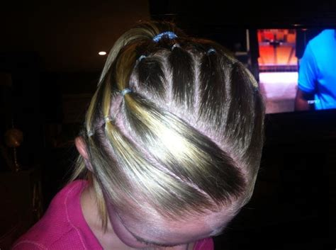 hairstyles for a gymnastics competition gymnastics competition hairstyle stripes gymnastics