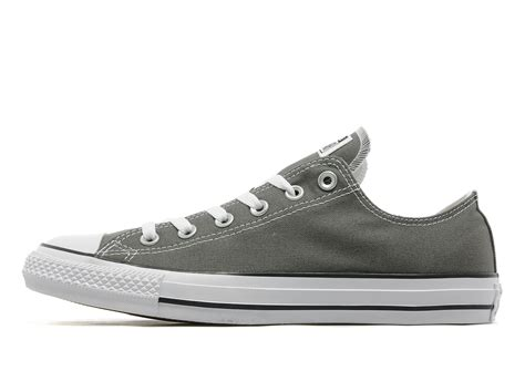 Converse All Ox Grey converse all ox in grey for lyst