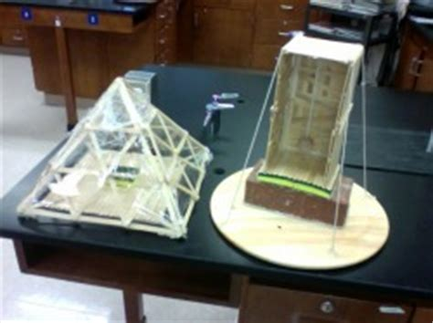 Earthquake Proof Building   Seventh Grade Science Projects