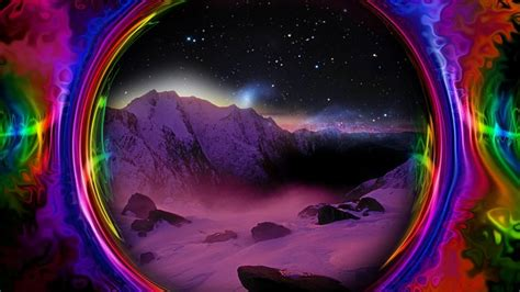 colorful space trippy  image  pixabay