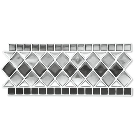 Set Tile Stick Hime peel stick backsplash kitchen bathroom wall tile borders