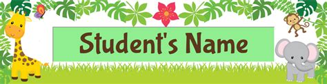 printable rainforest name tags printable name tag feature on amazing classroom amazing