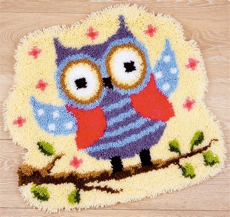 large latch hook rug kits vervaco latch hook rug kit owl sew essential