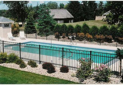 inground pool pool fencing landscaping ideas pinterest