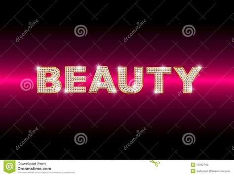 brilliant word beauty stock photo image