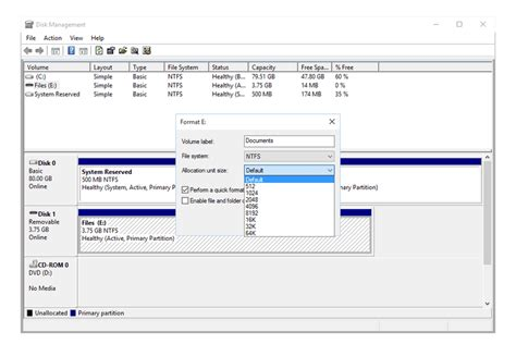 format fat32 allocation unit size step by step guide to formatting a hard drive in windows