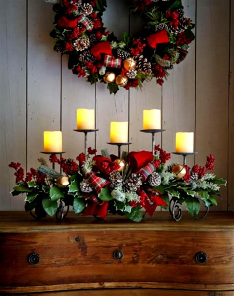 table decoration rustic christmas table decorations