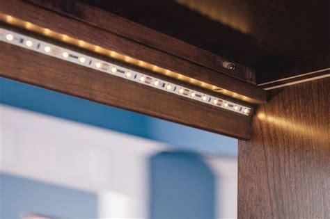 kitchen cabinet lighting led tape kraftmaid s led flexible tape lighting can easily be
