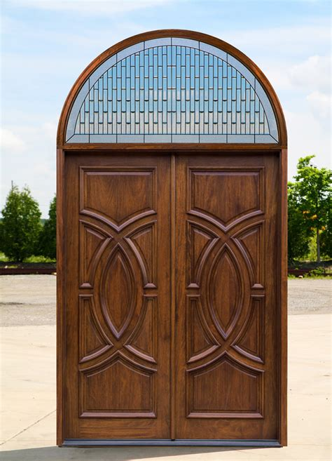 Exterior Double Doors With Arched Transom Arched Front Doors