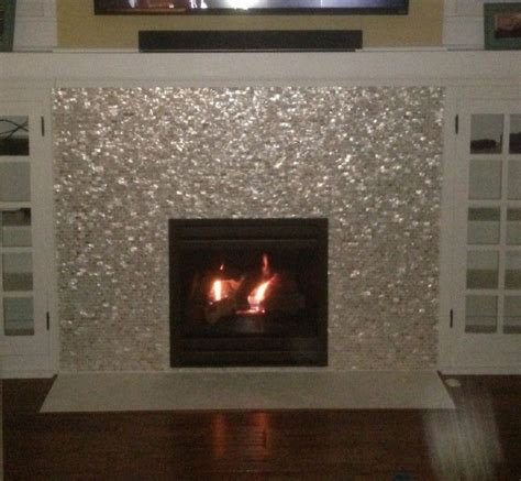Tiled Fireplace Insert by Best 25 Mosaic Tile Fireplace Ideas On