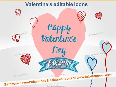 seasonal icons happy valentines ppt clipart hand