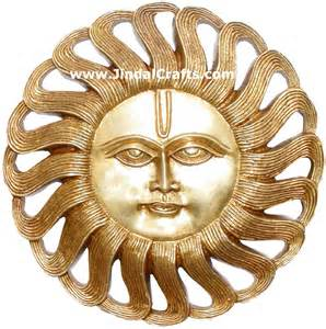 Home Decorations by Brass Sun Mask India Carving Artifacts Arts