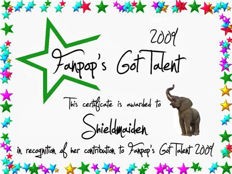 talent show certificate template shieldmaiden certificate fanpop s got talent photo