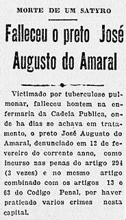 Os Crimes do Preto Amaral   São Paulo Passado