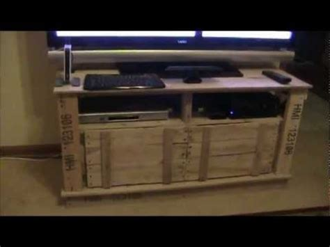 wood pallet tv stand project youtube