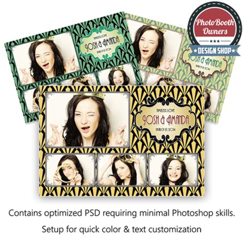 Art Deco Postcard Pbo Design Shop Photo Booth Owners Templates