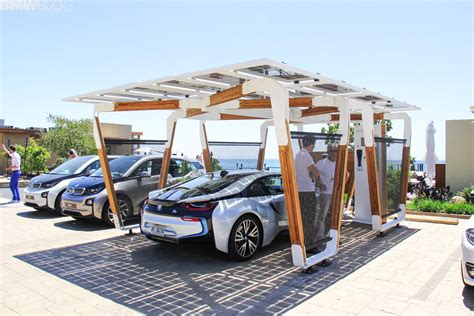 carport pro bmw designworks solar carport and bmw i wallbox pro